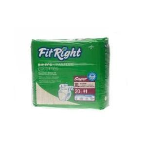 FitRight Super Briefs X-Large 20pk, Pkt 20