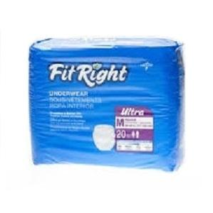 FitRight Ultra Underwear Medium 20pk, Pkt 20