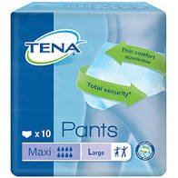 TENA PANTS MAXI LARGE, PKT 10