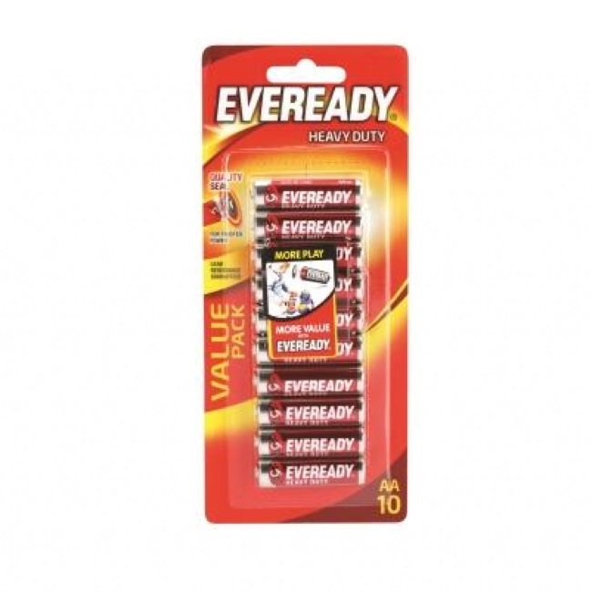 EVEREADY AA HEAVY DUTY BATTERY, PKT 10