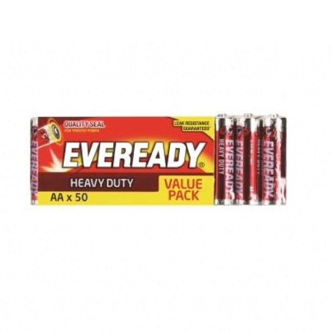 EVEREADY AA HEAVY DUTY BATTERY, PKT 50