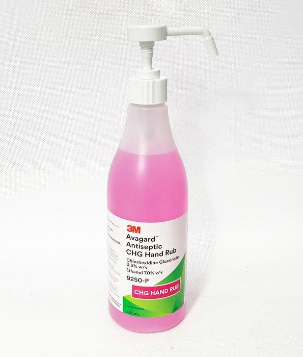 3M Avagard Antiseptic Hand Rub w/Chlorhexidine Gluconate 0.5% 500mL