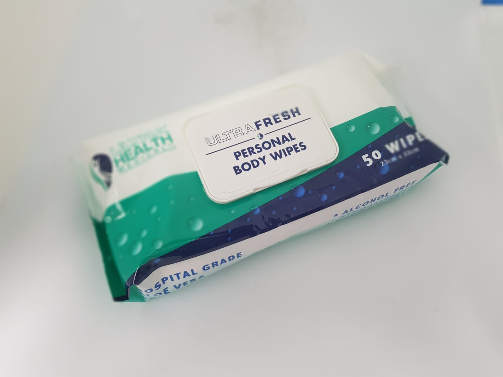 UltraFresh Personal Body Wipes, Pkt 50