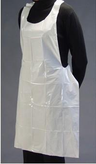 OWEAR PLASTIC APRONS 81CMx132CM WHITE, BOX 100