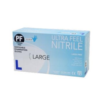 ULTRAFEEL GLOVES ECO NITRILE POWDER FREE LARGE, BOX 100