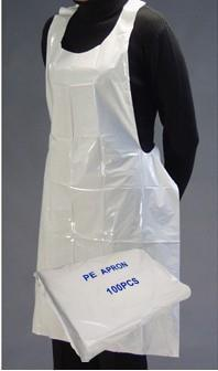 Apron Disposable, White 71 x 117cm, Pack 100
