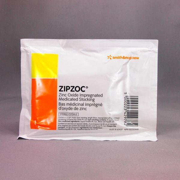 ZIPZOC ZINC OXIDE STOCKING 80CM, PKT10