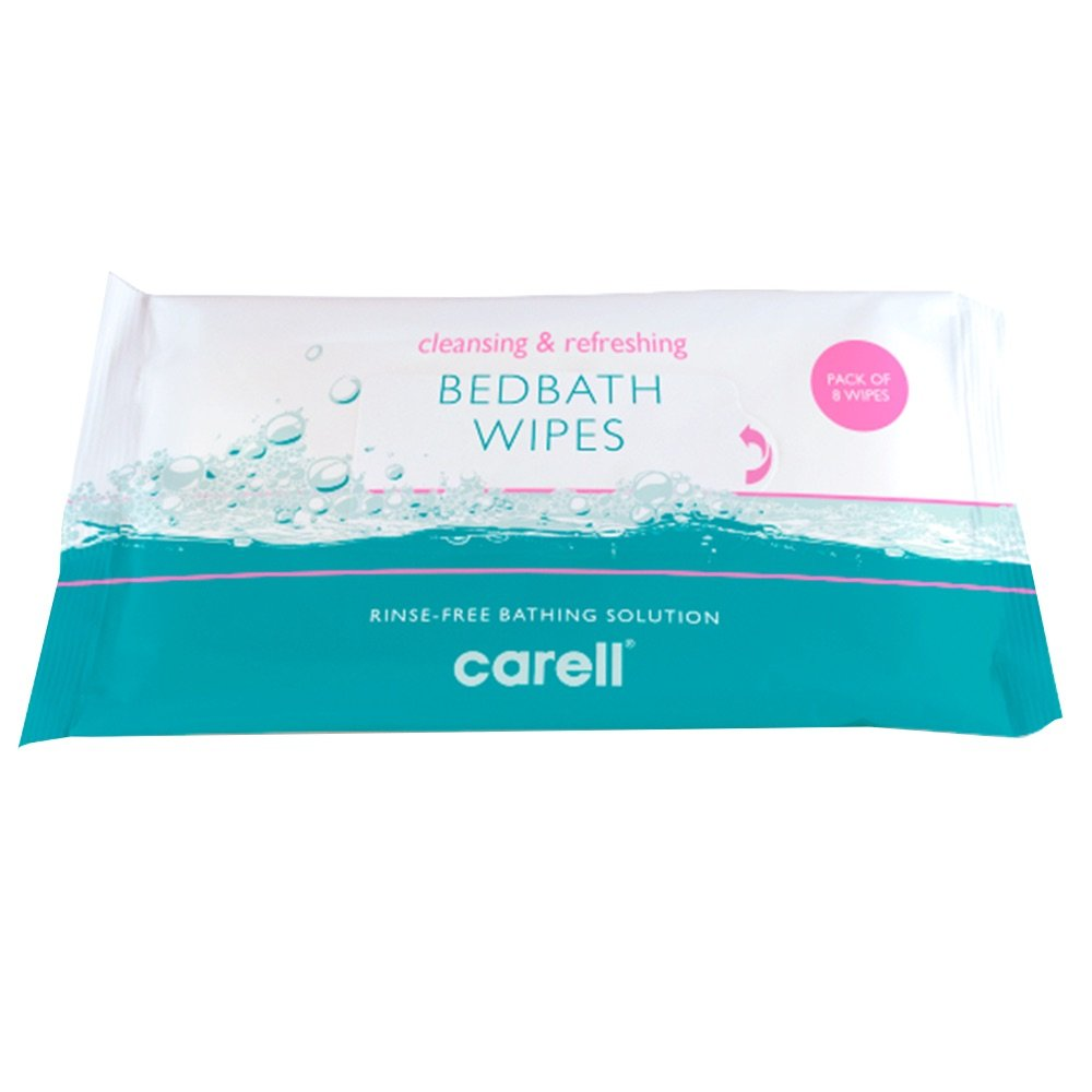 CLINELL BED BATH WIPES PKT 8