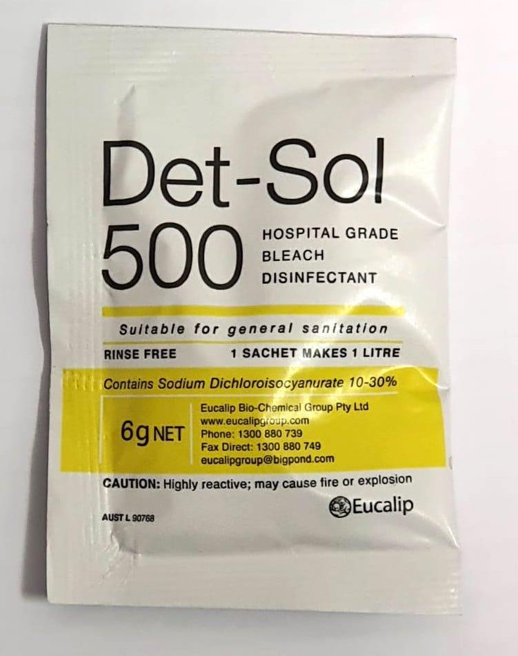DET-SOL 500 SACHET 6G, EACH SACHET
