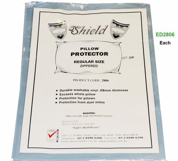 PILLOW PROTECTOR- ZIPPERED, EACH
