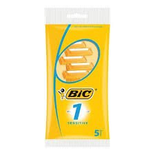 BIC 1 DISPOSABLE RAZORS 5 PACK