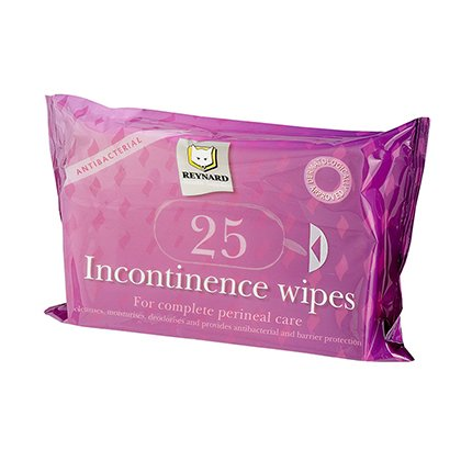 REYNARD INCONTINENCE WIPES, PKT 25