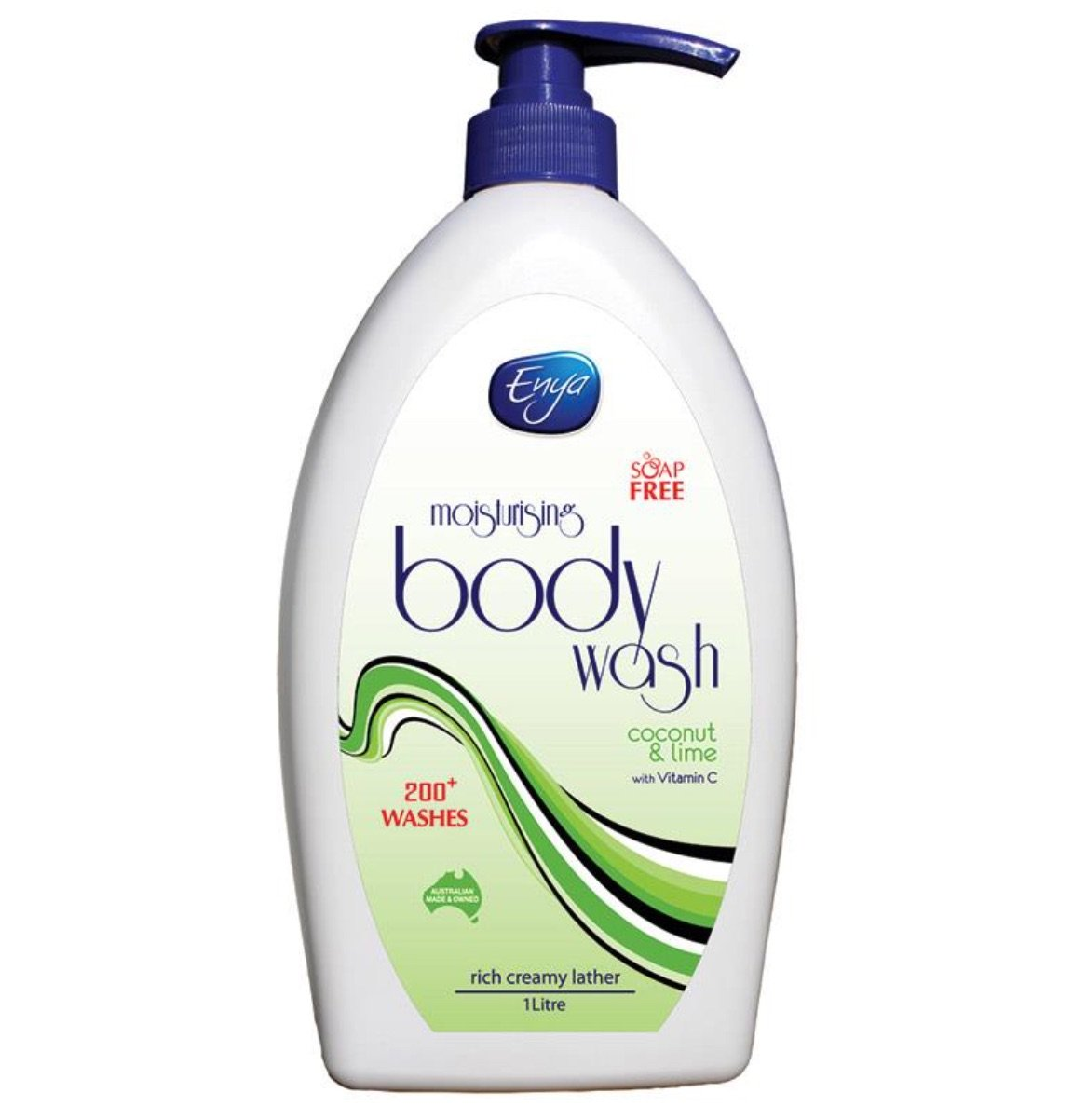 ENYA BODY WASH COCONUT &  LIME 1L, EACH