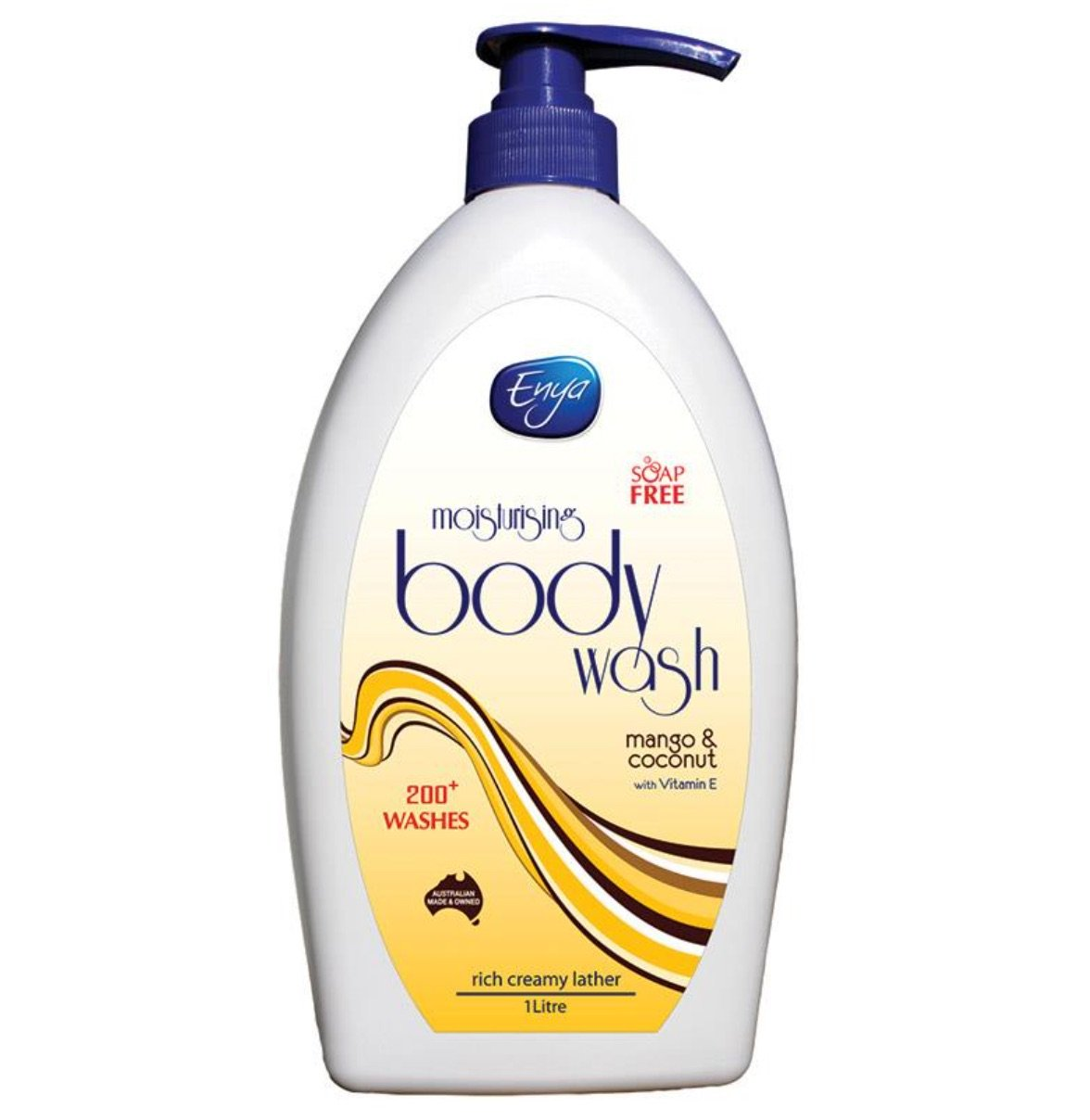 ENYA BODY WASH MANGO & COCONUT 1L, EACH