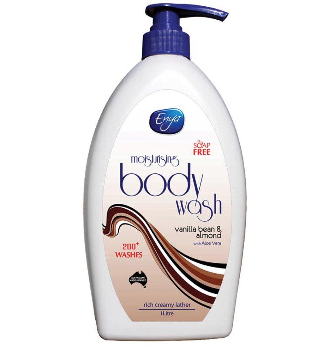 Enya Body Wash Vanilla Bean & Almond 1 Litre, each