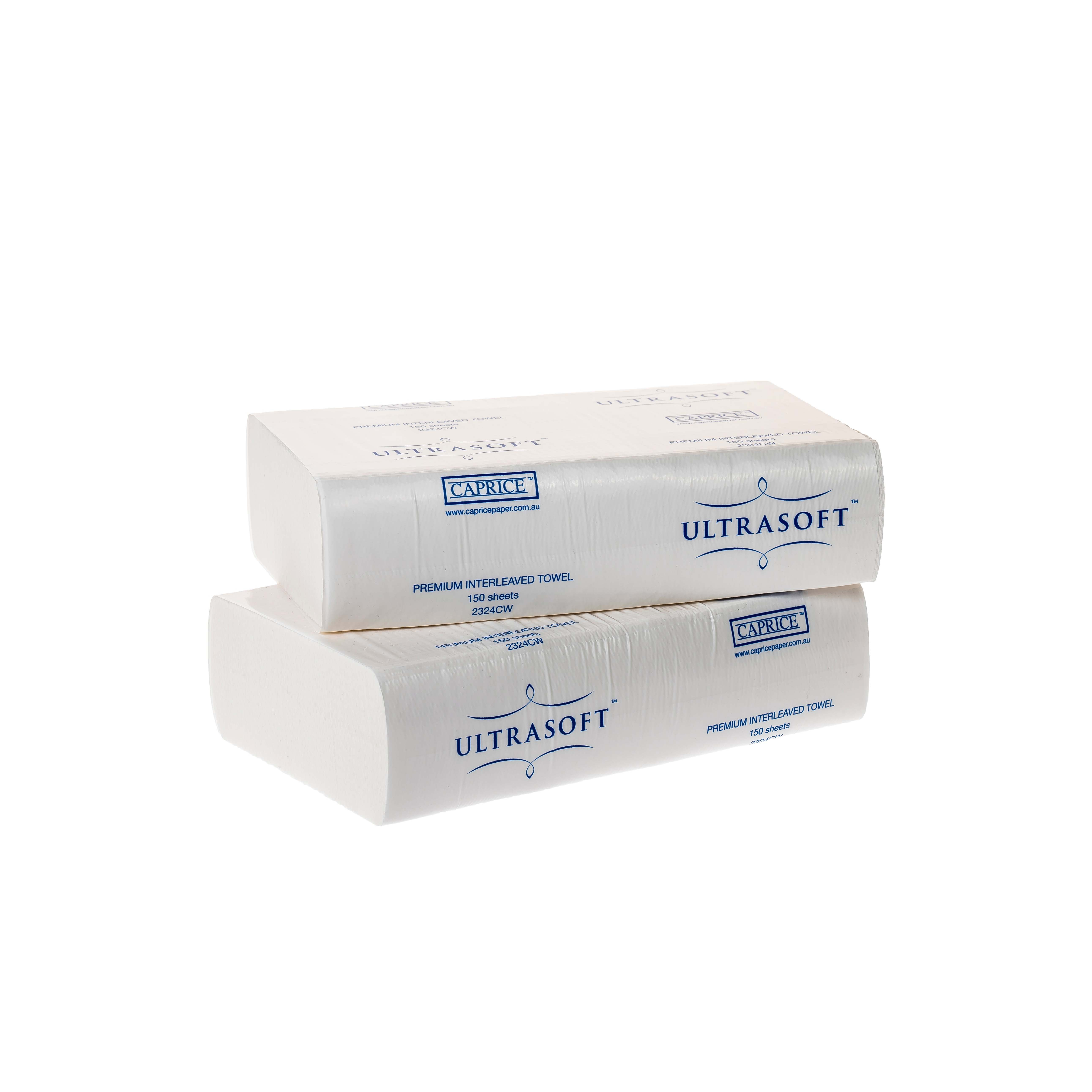 Ultrasoft Premium I'leaved Towel 24cm x 23cm, CTN 16X150