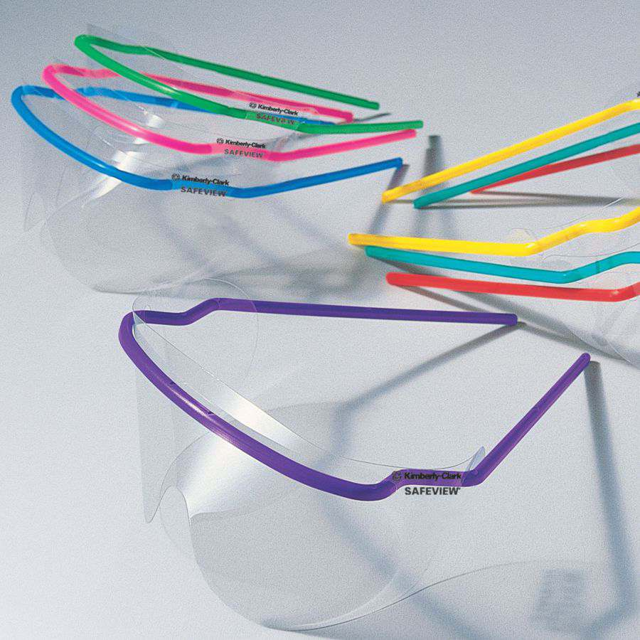 SAFEVIEW DISPOSABLE GLASSES CLEAR, PKT 5