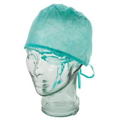 DISPOSABLE SURGICAL CAPS WITH TIES, PKT 100