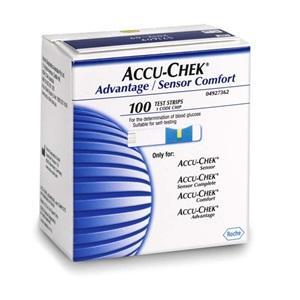 Accu-Chek Adv/Sensor Comfort Strips, Box 100