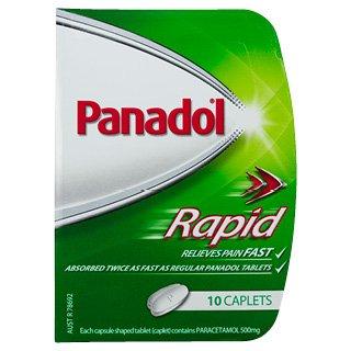 PANADOL RAPID CAPLETS, PKT 10