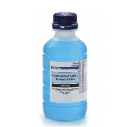 Chlorhexidine 0.05% Antiseptic Solution 500mL (Blue)