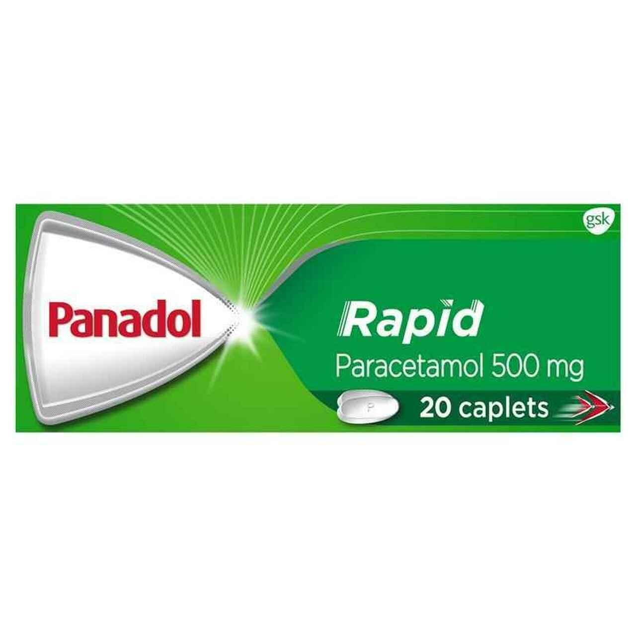PANADOL RAPID CAPLETS, PKT 20