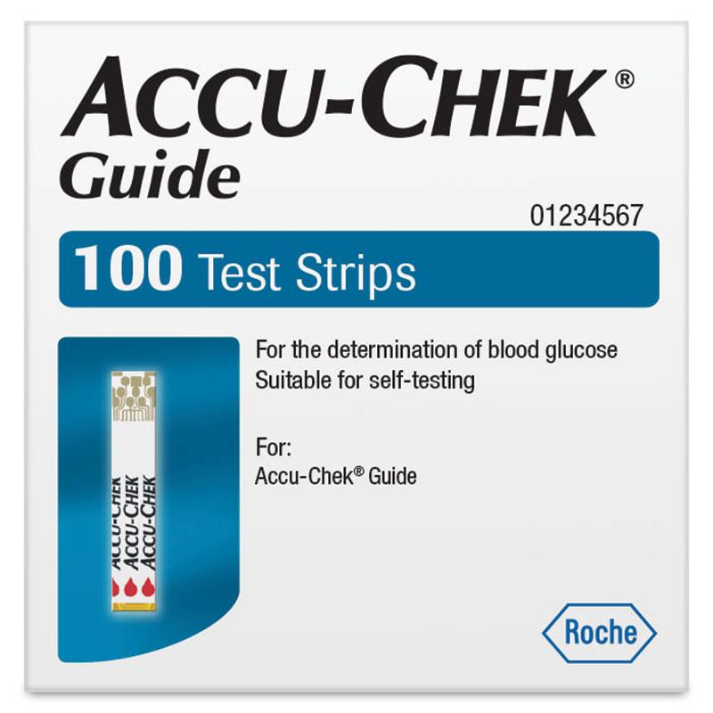 ACCU-CHEK GUIDE TEST STRIPS, Box 100