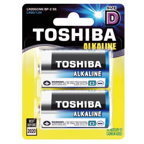 Toshiba Alkaline Size D, Pkt 2