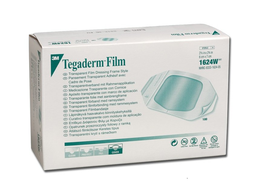 3M HP TEGADERM TRANSPARENT FILM DRESS WITH BORDER 6CMx7CM, BOX 100