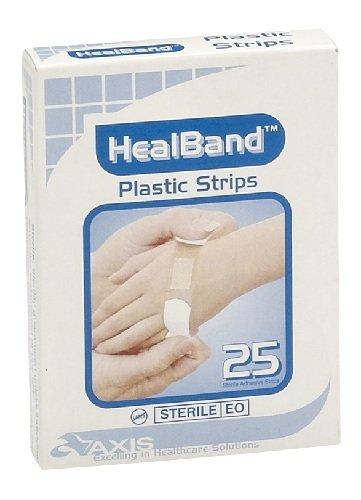 HEALBAND BANDAID STRIPS 2CMx7.2CM, BOX 25