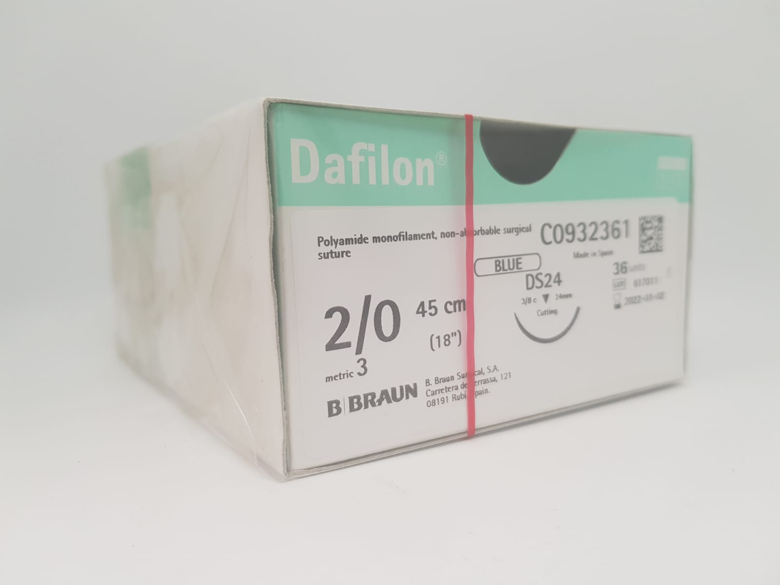 DAFILON 2/0 DS24 BLUE 45CM, BOX 36