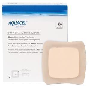 AQUACEL FOAM ADHESIVE 12.5CMx12.5CM, BOX 10