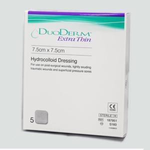 DUODERM EXTRA THIN 7.5CMx7.5CM, BOX 20