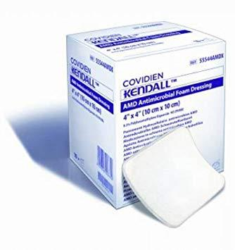 KENDALL AMD ANTIMICROBIAL FOAM DRESSING 10CMx10CM, EACH