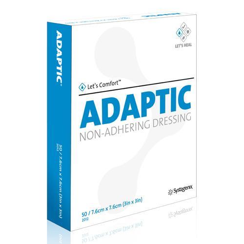 ADAPTIC DRESSING 7.6CMx7.6CM, BOX 50