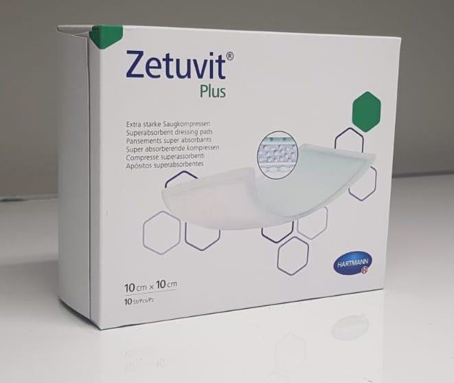 ZETUVIT PLUS 10CMx10CM, BOX 10