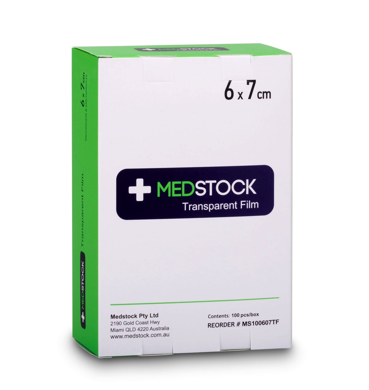 MEDSTOCK TRANSPARENT FILM STERILE 6CMx7CM, BOX 100