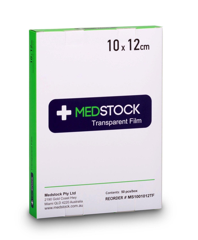MEDSTOCK TRANSPARENT FILM STERILE 10CMx12CM BOX 50