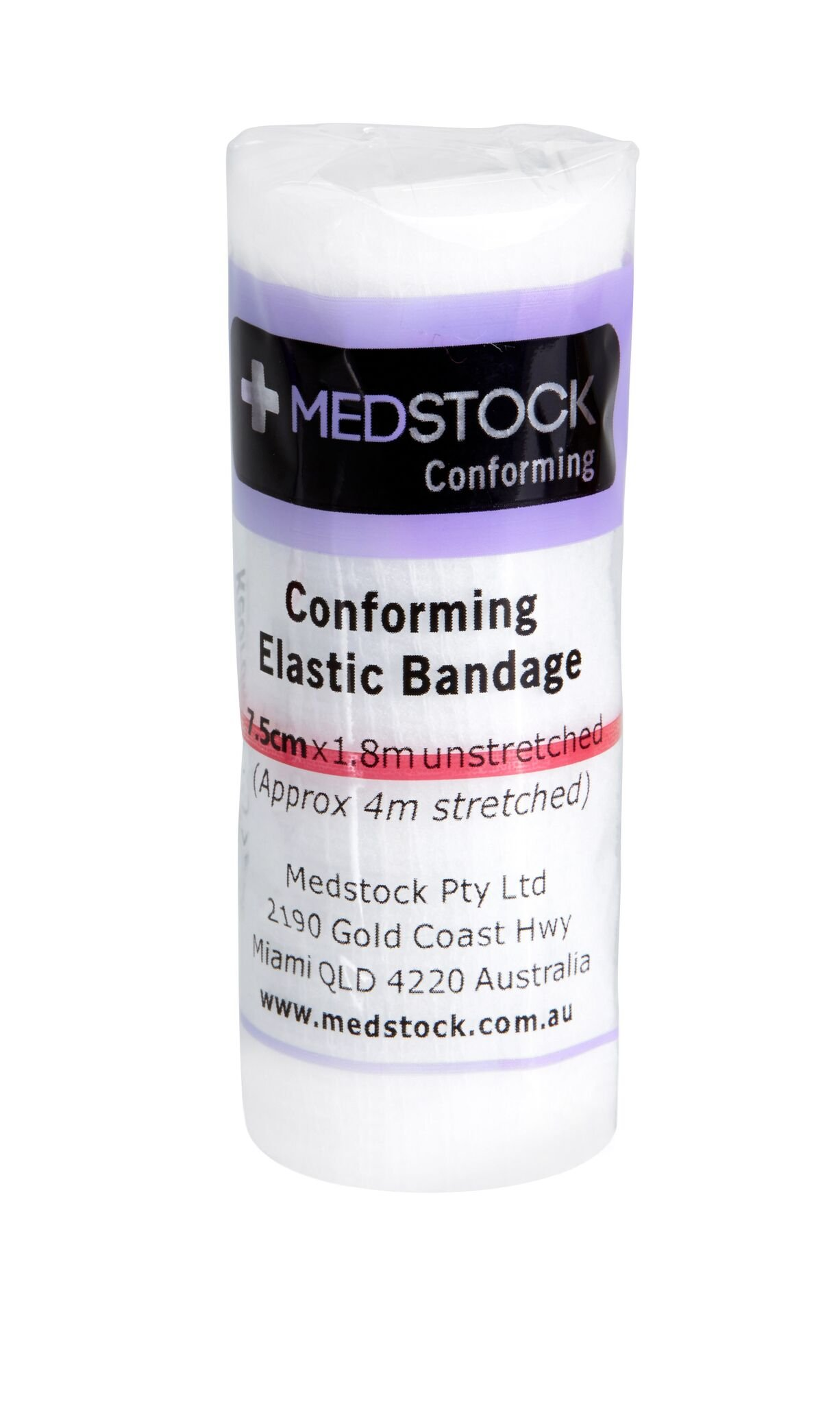 MEDSTOCK CREPE LIGHT BANDAGE 7.5CM X 1.8M, BOX 12