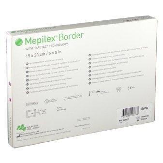MEPILEX BORDER 20CMx15CM BOX 5