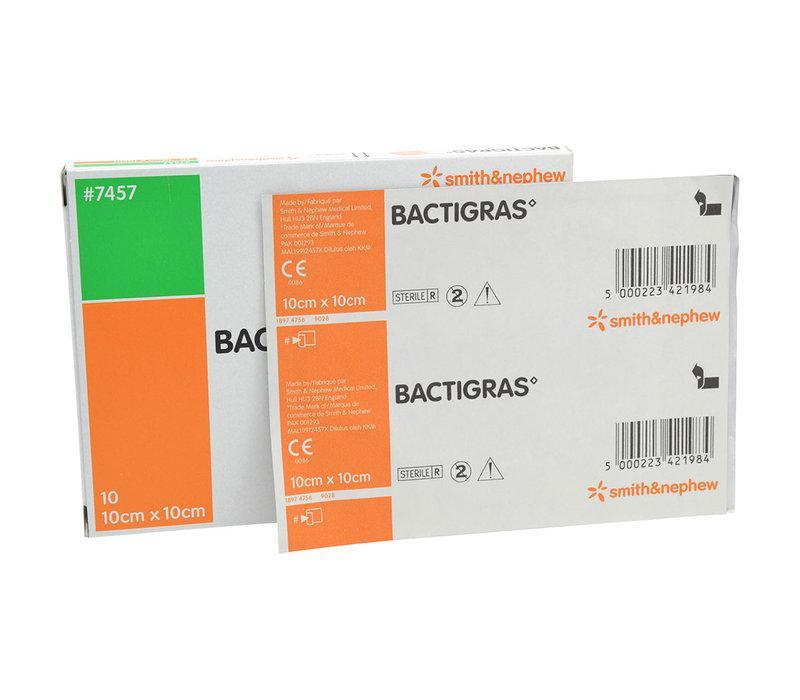 BACTIGRAS 10CMx10CM, BOX 10