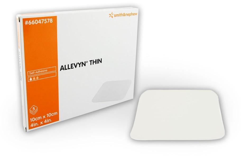 ALLEVYN THIN 10CMx10CM, BOX 5