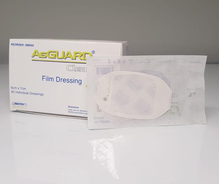 ASGUARD CLEAR FILM DRESSING 6CMx7CM, BOX 50