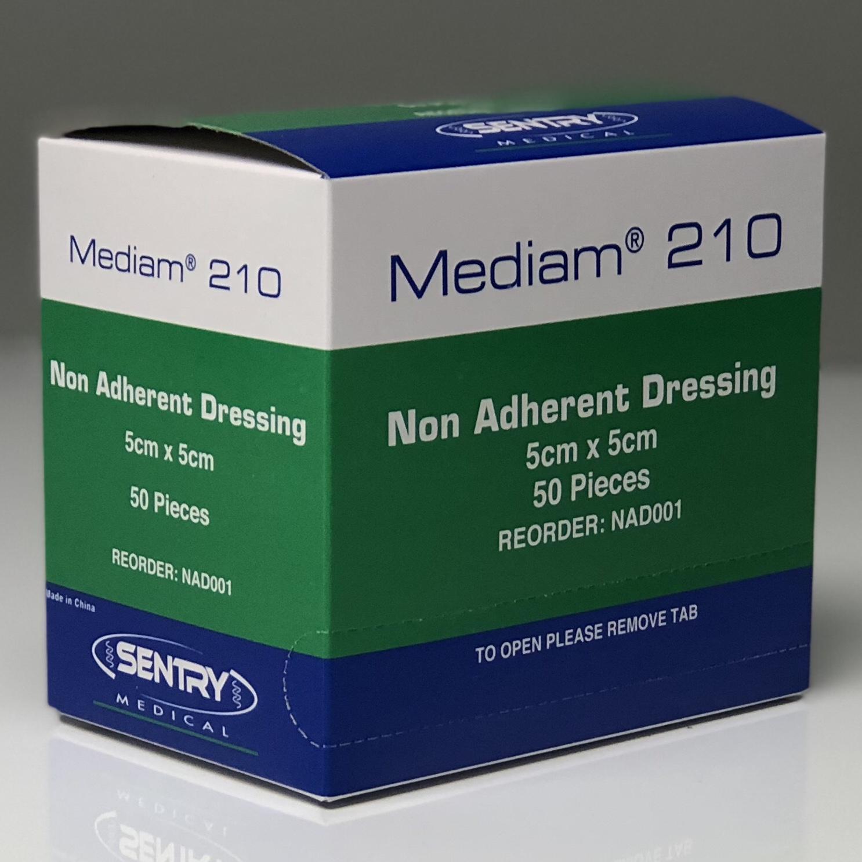 MEDIAM 210 LOW ADH DRESSING 5CMx5CM, BOX 50