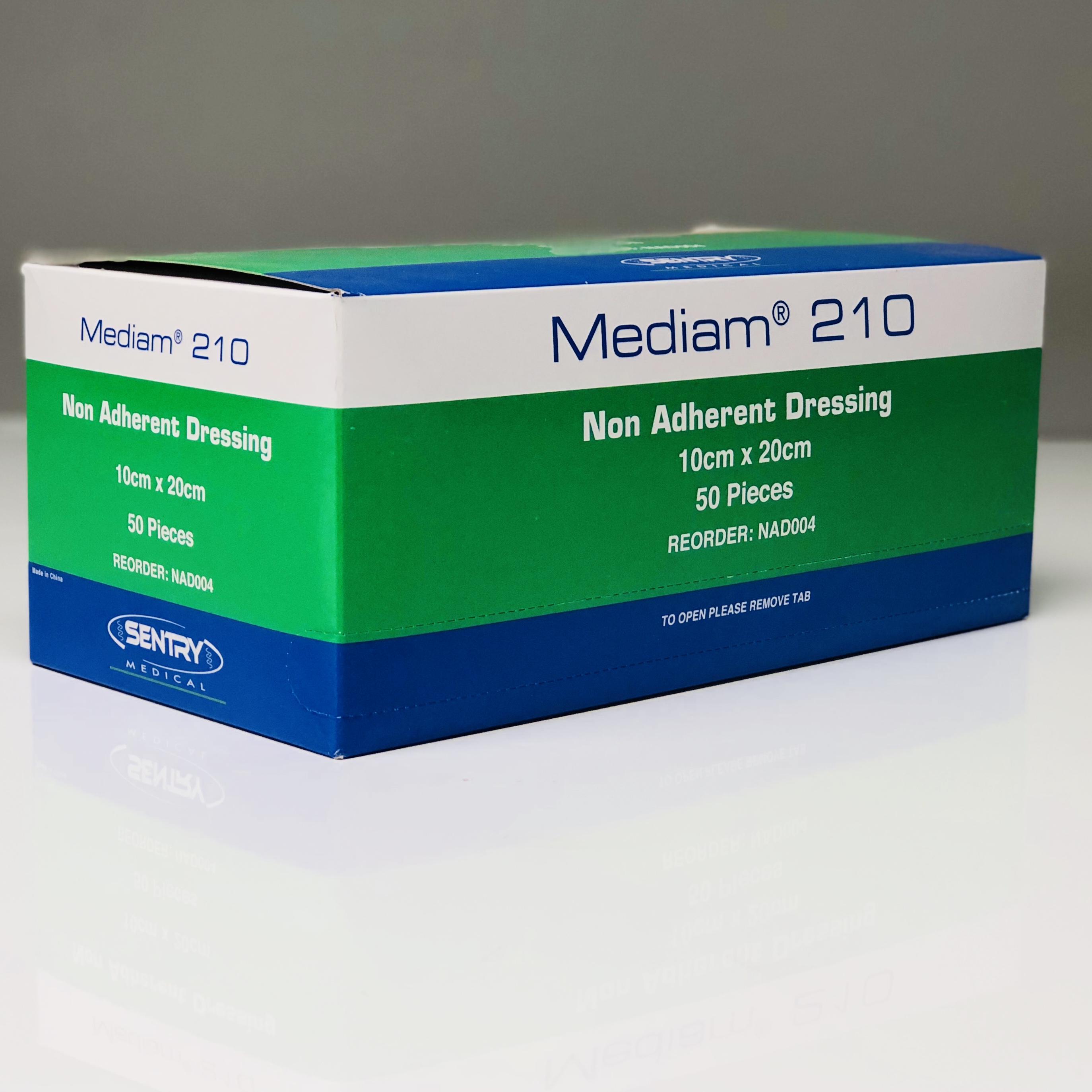 MEDIAM 210 LOW ADHERENT DRESSING 10CMx20CM, BOX 50