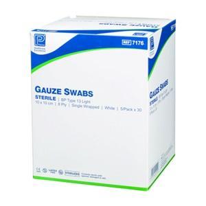 Gauze Swabs Sterile 7.5cm x 7.5cm, Pkt 50