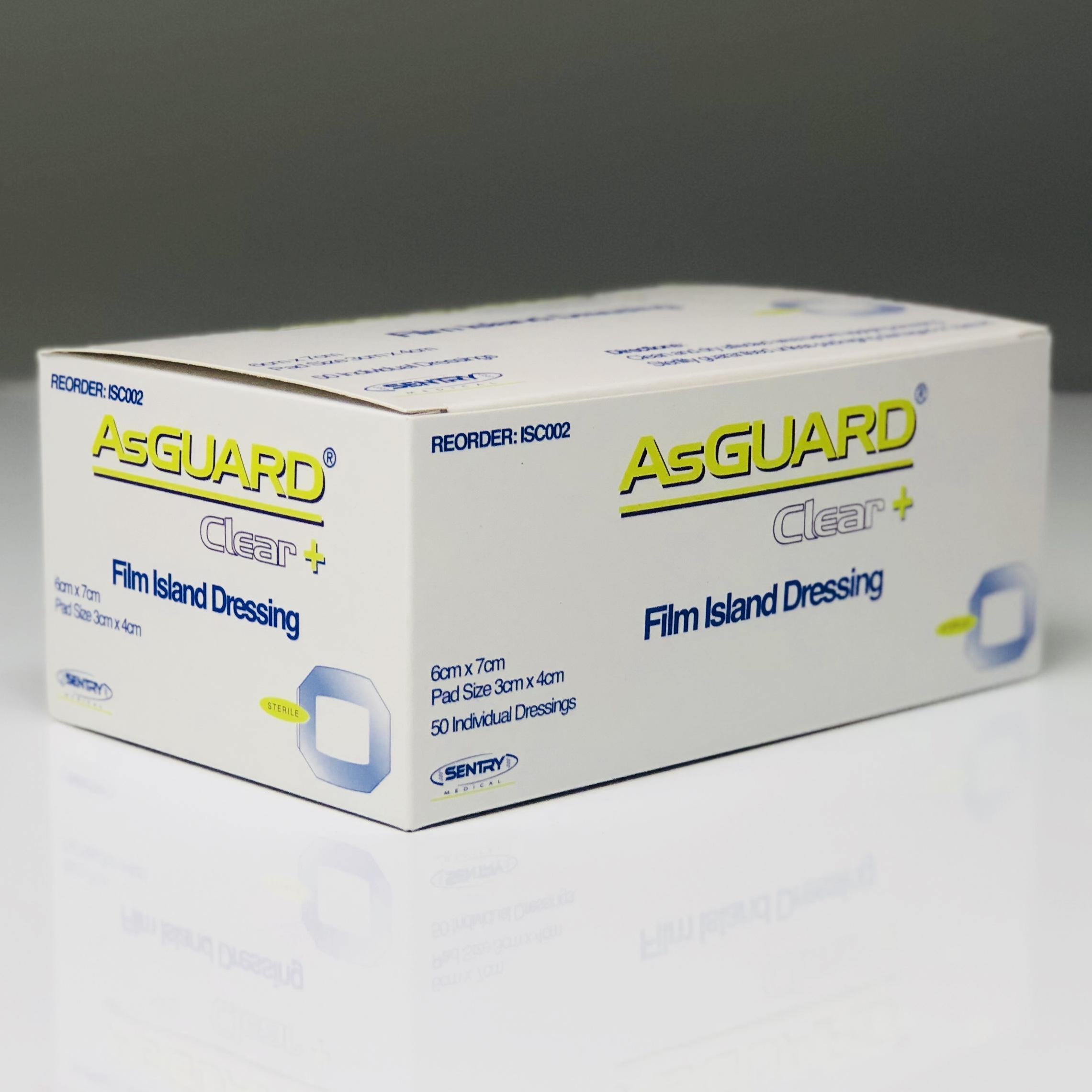 ASGUARD CLEAR+ FILM ISLAND 6CMx7CM, BOX 50