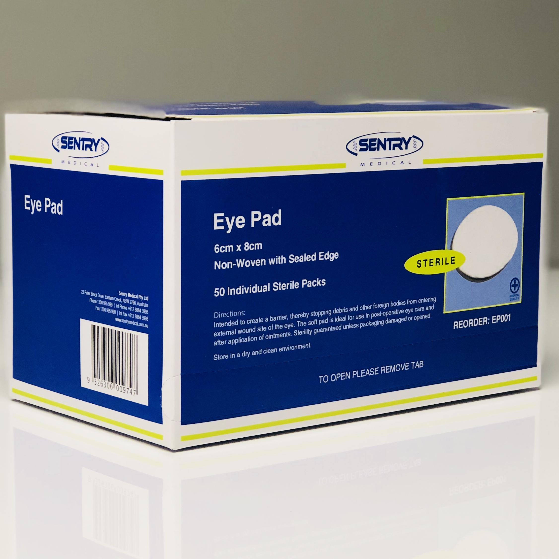 EYE PADS STERILE 6CMx8CM, BOX 50