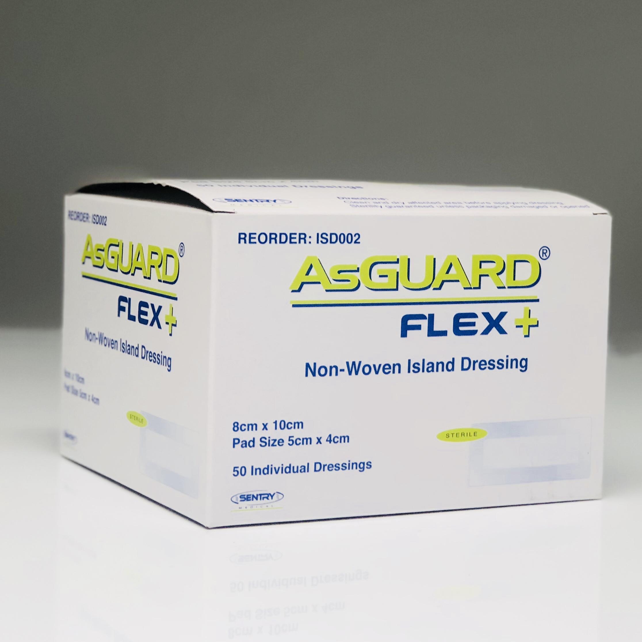 ASGUARD FLEX+ NON-WOVEN ISLAND DRESSING 8CMx10CM, BOX 50