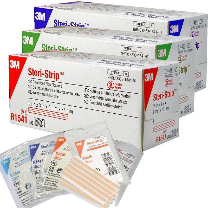 3M STERI STRIP ADH SKIN CLOSURES 6MMx75MM BOX 50